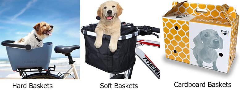 different dog bike basket