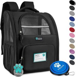 2 PetAmi Deluxe Pet Carrier Backpack for Small Cats and Dogs