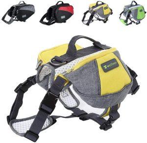 #4. Wellver Dog Backpack Saddle Bag Travel Packs for Hiking Walking Camping