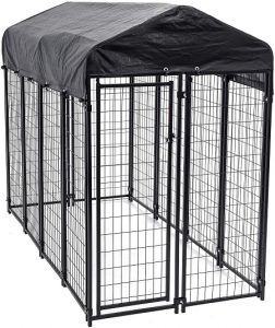 Lucky Dog - Heavy Duty Welded Wire Dog Kennel with Cover and Frame