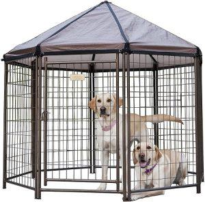 Advantek Pet Gazebo Outdoor Metal Dog Kennel